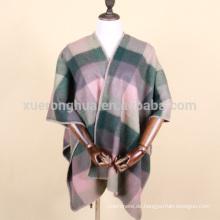 2016 neue mode lämmer wolle und polyester gemischt wrap für winter