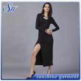Style sexy warp long sleeve evening elegance maxi dress