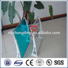 feuille solide en polycarbonate pour voilure / fenêtre canopée / porte couvert