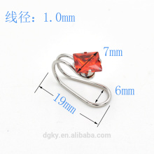Square Zircon ear clips Non-piercing ear cuff 2016 newest