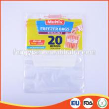 Medium size zip lock insulated frozen food packaging bag