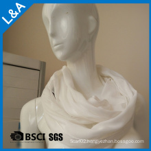 White Polyester Infinity Scarf Women