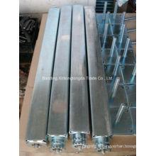 Arbre carré en acier forgé avec placage de zinc