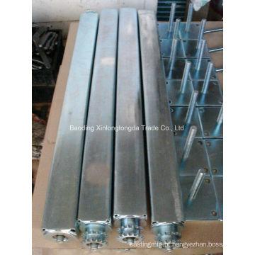 Eixo quadrado de aço forjado com chapeamento do zinco