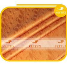 100% tela de algodón damasco Shadda Guinea Brocade Bazin Riche tela de ropa africana FEITEX