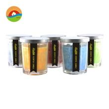 Grande bougie en verre parfumé à la cire de soja chiné