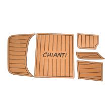 Waterproof eco-friendly custom foam eva boat decking rubber flooring sheet