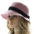 2015 New Fashion England Outdoor Casual Summer Short Brim Cap Women Straw Hat