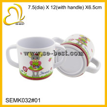 Kids melamine cup with two handle