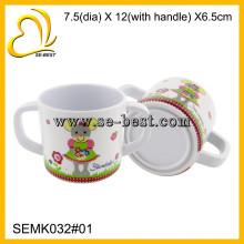 Дети меламина чашки с два ручки