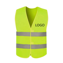 RTS Safety Vest with 2 Reflective Tapes Hook & Loop Closure Customized Logo Red Fluorescent Cheap