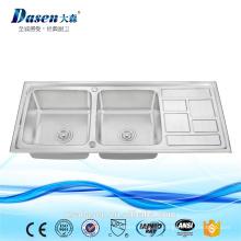 Ds 11650 holz waschbecken kommerziellen waschbecken arbeitsplatte tiefe edelstahl waschbecken