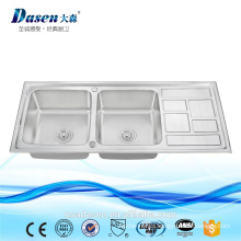 Ds 11650 wood sink commercial bathroom sink countertop deep stainless steel sink