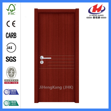 JHK-P06 wood skin pvc doors with honeycomb paper