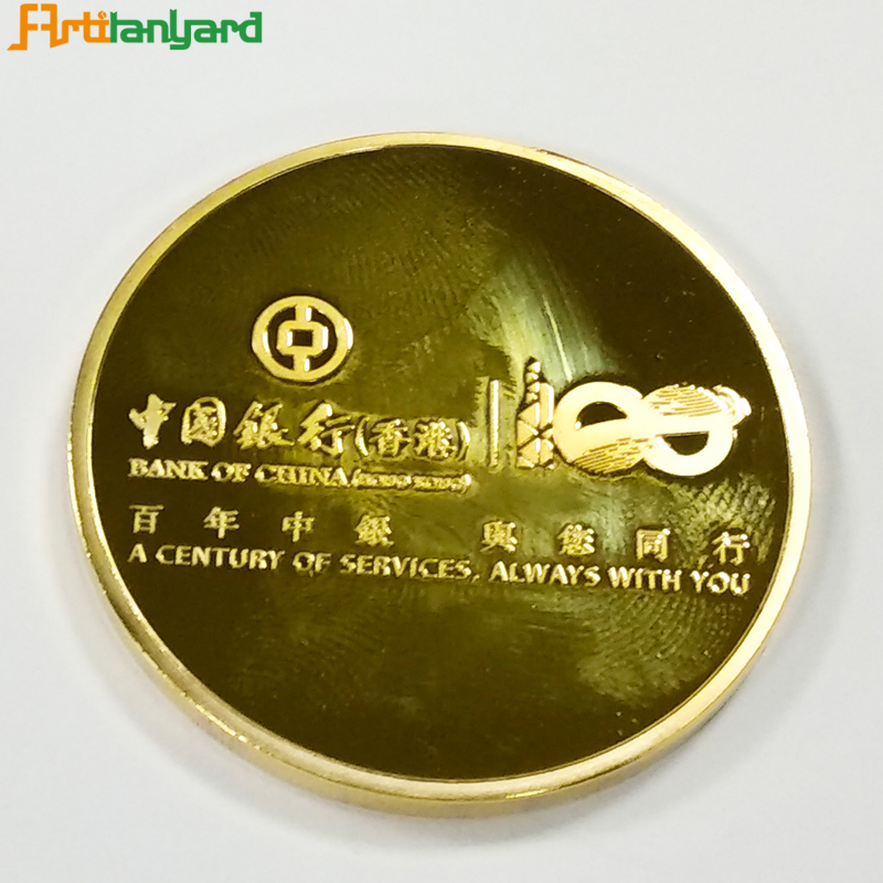 Proof Coin With Gold Plating