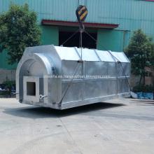Sistema de destilación al vacío de aceite lubricante residual