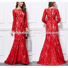 Vestido de noche de manga larga 2016 Nuevo vestido de banquete formal de sirena bordada