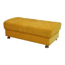 Gelbe Bank für Hotelmöbel
