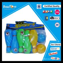 Jeux de boules de bowling en plastique de 7 pouces de haute qualité