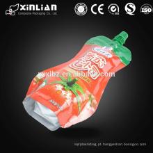 Embalagem de suco de plástico com bolsa de bico