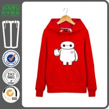 2016 Красный цвет Дешевые Руна Пуловер пара Hoodie куртка