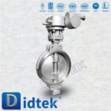 Didtek triple compensación 800 mm de acero inoxidable Wafer tipo válvula de mariposa para gasolina