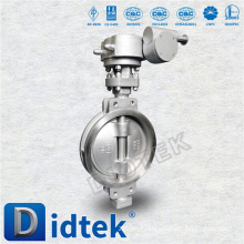 Didtek Triple Offset 800MM Stainless Steel Wafer Type Butterfly Valve For Petrol