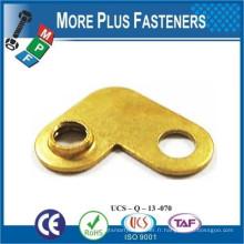 Fabriqué à Taiwan Pièces d'estampage pour connecteur Matériau en laiton Encre sur mesure
