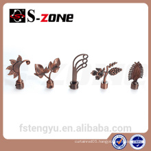 brazil people like curtain rod flower finial for indoor decoration
