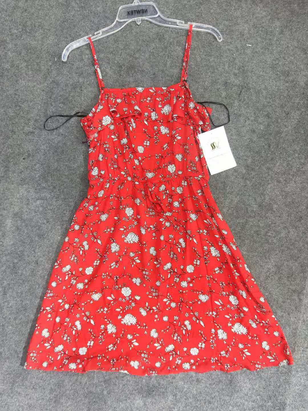 Backless Flower Print Lady Dress