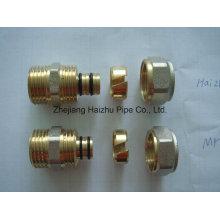 Tubería Pex-Al-Pex o tubería de plástico de aluminio de ajuste de latón (KTM)