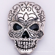 Wholesale Blacken Factory Zinc Alloy Brooch Skull Jewelry Fashion