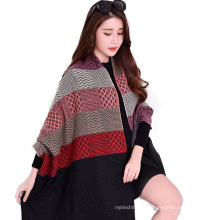 2017 Nouvelle arrivée hiver long plaid 7 couleur couture femmes faux cachemire écharpe poncho pour les femmes avec gland