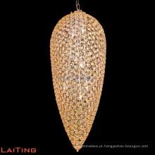 Lustre moderno para sala de jantar lustre luz forma de folha em 71108