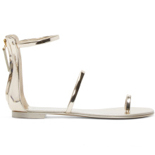 Top-Rated Supplier Metallic leather gladiator women slipper slide sandal