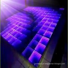 Diodo emissor de luz portátil Dance Floor do espelho do efeito do estágio 3D do disco