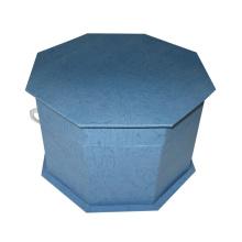 Hexágono cartón plegable caja / regalo de embalaje al por mayor