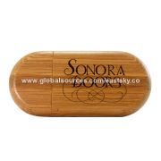 Wooden Flash Drive, Wood and Bamboo Materials, 64MB to 32GB, Logos Made with Laser TechniqueNew