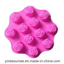 12 mesmo da parte, molde do bolo do projeto de Rosa, silicone