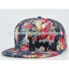 fashion adult hip hop cap with all over flower printing