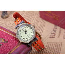 Red band leather watches for women KSQN-10