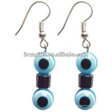 Fashion Hematite Plastic Eyes Beads Earring