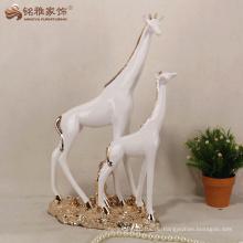 Resin Innen dekorative Giraffe Mutter und Sohn Skulptur