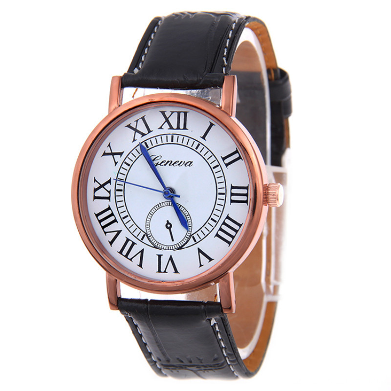 2016 Fashion Women Leather Wrist Quartz Watch