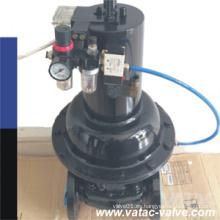 Válvula de diafragma del alambre del actuador neumático
