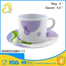 factory price sale melamine saucer set mini plastic tea cups