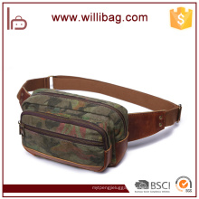 Popular Camouflage Style Leather Military Running Waist Bag for Man
