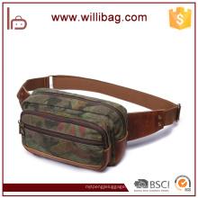 Popular camuflagem estilo couro militar correndo saco de cintura para homem