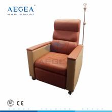 Bajo la alta temperatura de horneado inyección hospital paciente reclinable médico usado infusión sillas