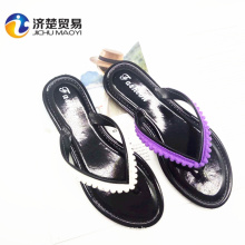 2017 colorful design new shoes with decoration for flip flops women slippers